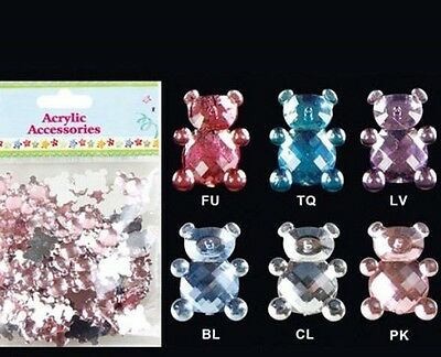 Acrylic Craft Bear Accessories Favors Confetti Gift Spread Choose Color