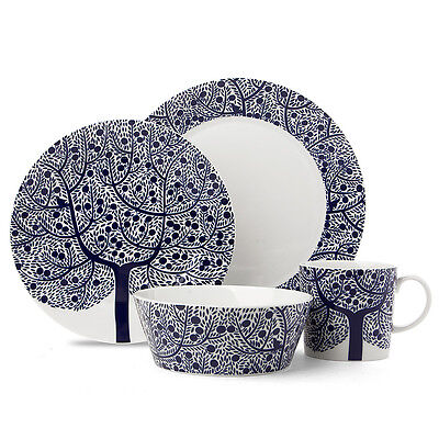 NEW Royal Doulton Fable Blue Tree Dinner Set 16pce