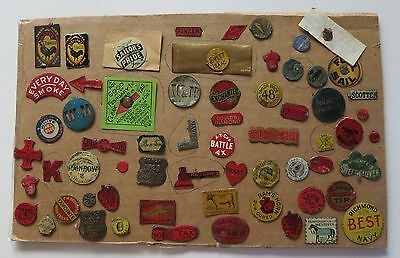 63 Antique Tobacco Tags - Some Scarce And Rare