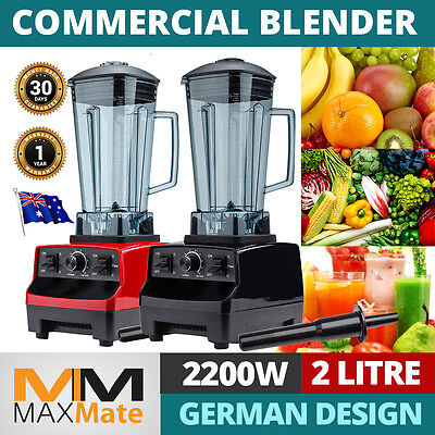 Commercial Mixer Drinks Blender Food Processor Strong Crush Ice Nuts 2L Strong