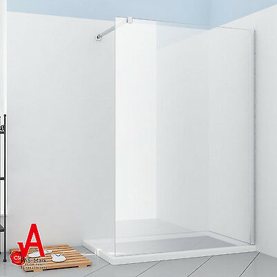 1200x2000mm New Frameless Walk In Shower Screen Fixed Panel-8mm Toughened Glass