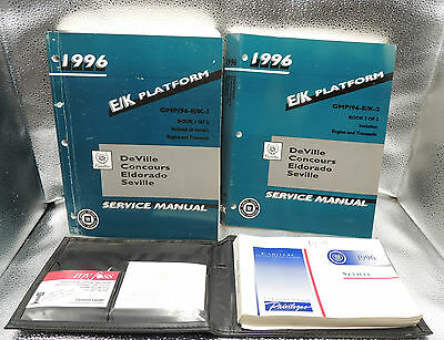 1996 Cadillac Service Repair Manual Deville Eldorado Seville Concours and Owners