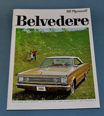 1966 Plymouth Belvedere Satellite Sales Brochure Canadian NOS New Old Stock