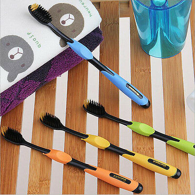 Toothbrush Nylon Teeth Health Cleaner Dental For Kids Adult Bamboo Charcoal
