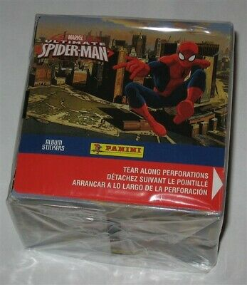 Factory Sealed 50 Pack Box 2014 Panini Marvel Ultimate Spider-Man Album Stickers