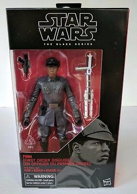 "Star Wars the Black Series The Last Jedi #51 Finn First Order Disguise 6"" - MIB"