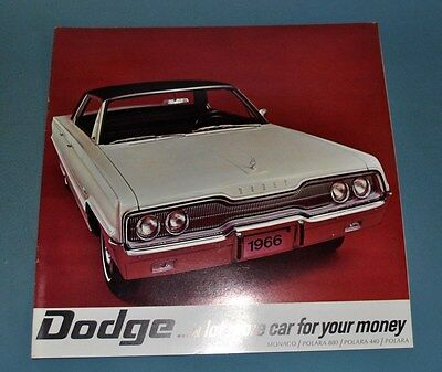 1966 Dodge Monaco Polara 440 880 Canadian Sales Brochure NOS New Old Stock