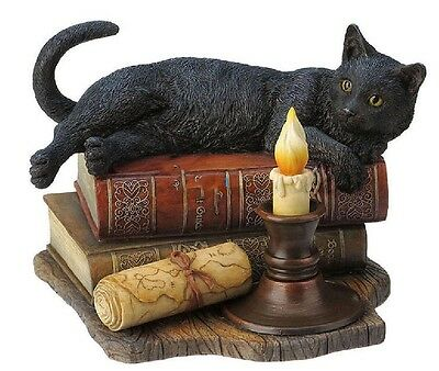 """7.75"""" The Witching Hour By Lisa Parker Sculpture Magick Statue Magic Black Cat"""