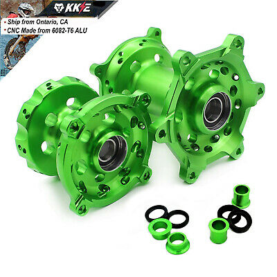 Cnc Billet Hub Set Fit Kawasaki Kx250F Kx450F 2006-2018 Front Rear Green Spacer