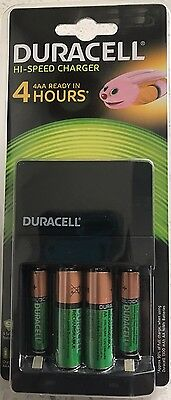 Duracell Hi-Speed Charger Ready In 4 Hours Cef14 Rechargeable Aa/aaa Batteries