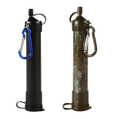 Portable Water Filter Soldier Hiking Camping Purifier Outdoor Survival Drinking
