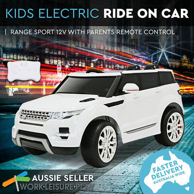 Kids Electric Ride On Car Range Rover 12V Children 3 Speed Remote