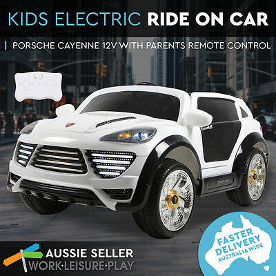 Kids Electric Ride On Car Porsche 12V Children Toys 2 Speed Remote