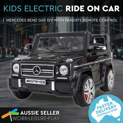 Kids Electric Ride On Car Mercedes Benz 12V Children Toy 3 Speed Remote Battery