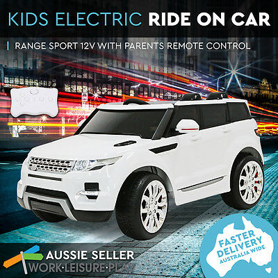 Kids Electric Ride On Car Range Rover 12V Children 3 Speed Remote PERTH PICK UP
