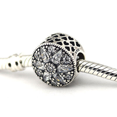 S925 Sterling Silver European Charm Radiant Bloom CZ - FREE Pandora Cloth