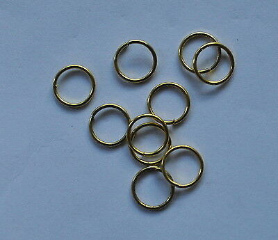 10mm Gold Plated Jump Rings - bag of 50