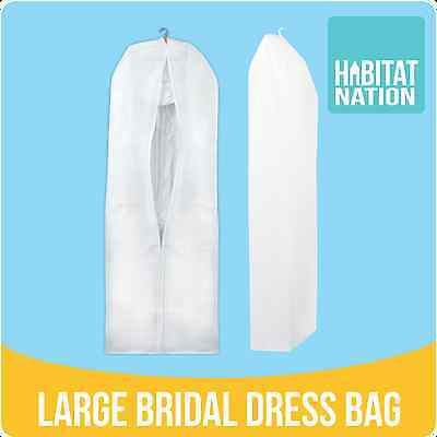 XL Large Breathable Protector Garment Bridal Wedding Dress Storage Bag Cover