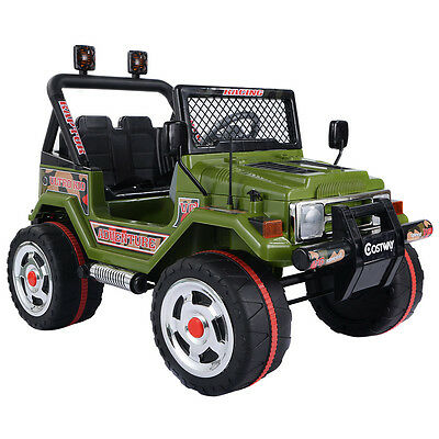 Jeep SUV Kids Ride On Car 12V Electric Battery Parental Remote Control MP3 Green