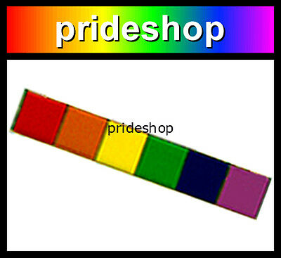 Rainbow Campaign Bar Metal Badge Lapel Pin Lesbian Gay Pride #16