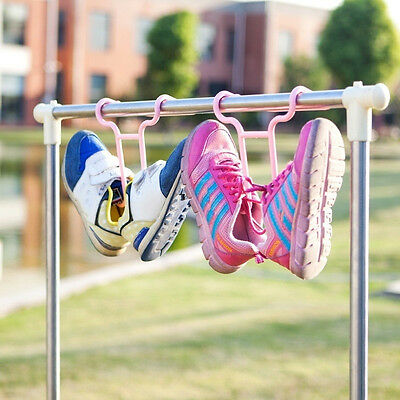 2pcs Balcony Drying Child Shoe Holder Storage Hanger Space-Saver Supplies