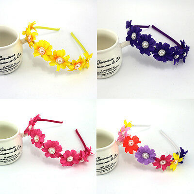 Floral Crown Flower Girl Wedding Garland Children  Princess Hair Band Headband