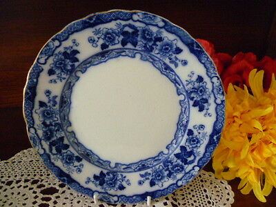 "ANTIQUE   FLOW BLUE """" japan """"  patern SERVING/CABINET PLATE LATE 1880's"