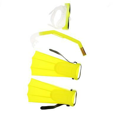 Kid Youth Scuba Diving Snorkel Mask Fin/Flippers Swimming Goggles Set Yellow