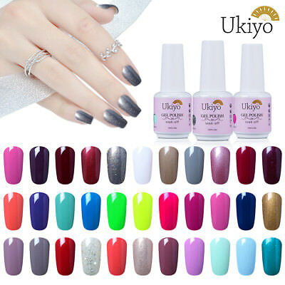 Ukiyo 15ml Soak Off UV Gel Nail Polish UV LED Varnish No Wipe Top Coat Base Coat