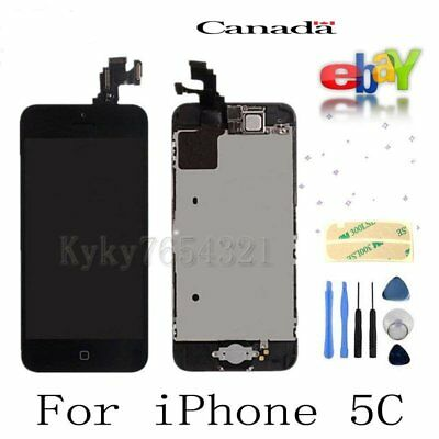 For iPhone 5C Touch Screen Digitizer Replacement with Camera & Home button Black