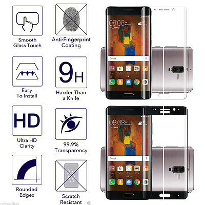 3D Curved Tempered Glass Full Cover Screen Protector Film For Huawei Mate 9 Pro