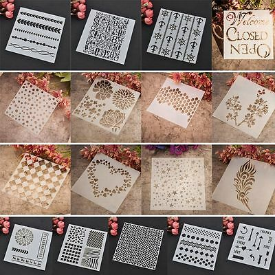 Layering Stencils Templates for Scrapbooking Drawing DIY Wallpaper Home Decorate