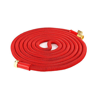 50 100 FT Feet Latex Deluxe Expanding Flexible Garden Water Hose Expandable New