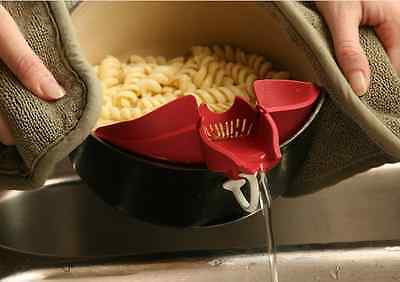 Grease Pouring Spout Red Clip Strainer Drainer Batter Dispenser On Hot Cold Oil