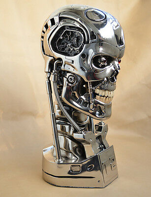 NEW Resin Replica Silver Version Terminator Salvation 1:1 T800 Skull Eyes Light