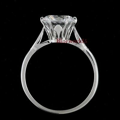 2 Carat  Off White Moissanite Wedding Engagement Ring 925 Sterling Silver