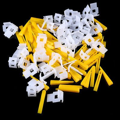 100/200/400/1000 Tile Leveling System Clips + Wedges Floor Wall Plastic Spacers