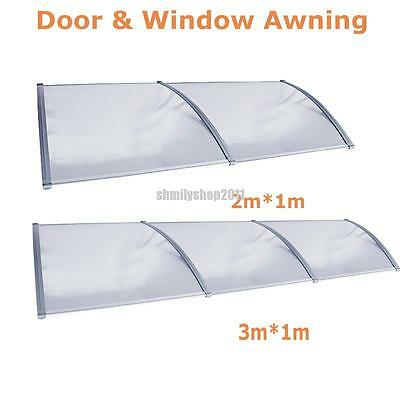 3m/2m x 1m Window Door Outdoor Awning Canopy Patio  Sun Shield UV Rain Cover