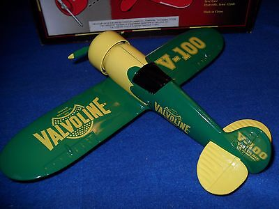 1993 Speccast Valvoline Travel Air Die Cast Metal Replica Airplane Bank