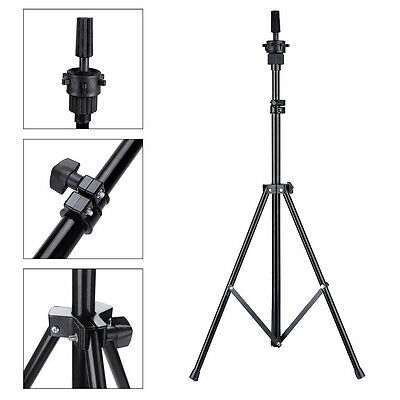 Adjustable Hair Salon Tripod Stand Mannequin Cosmetology Training Head Holder