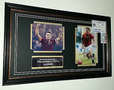 ** Rare Francesco Totti Of Roma Signed Photo Picture Autograph Display **