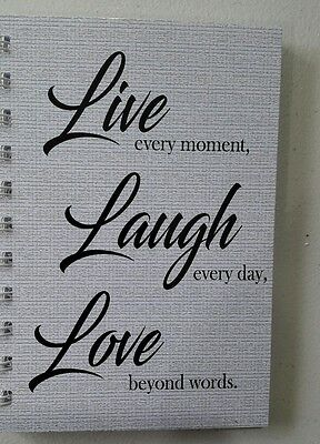2017-2018 mini diary LLL quote A6