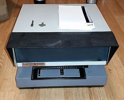 Vintage Rare Compact MicroSee 270-EX Microfilm Reader Shrewsbury Electronic
