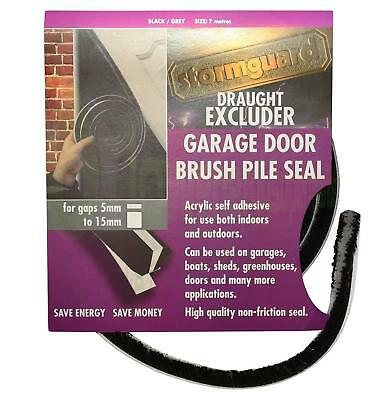 Garage Door Brush pile draught excluder weather proofing seal self adhesive 7M