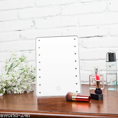 Stylish Touch Screen Vanity Makeup Illuminated-Cosmetic Mirror Regali di Natale
