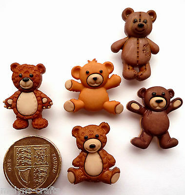 STUFFED WITH LOVE Craft Buttons Teddy Bears Children Animals Baby Nursery Toys