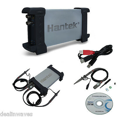 Hantek Digital Auto PC Oscilloscope FFT 2CH Channel USB 20MHz Bandwidth 2 Probe