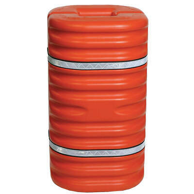 GRAINGER APPROVED Column Protector,For 10 In Column,Org, 1710OR, Orange