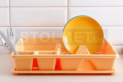 Large Dish Drainer Rack Tray Utensil Cutlery Kitchen Plate Holder Plastic