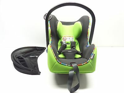 New Genuine MINI Baby Child Safety Isofix Car Seat Group 0+ Vivid Green RRP £220